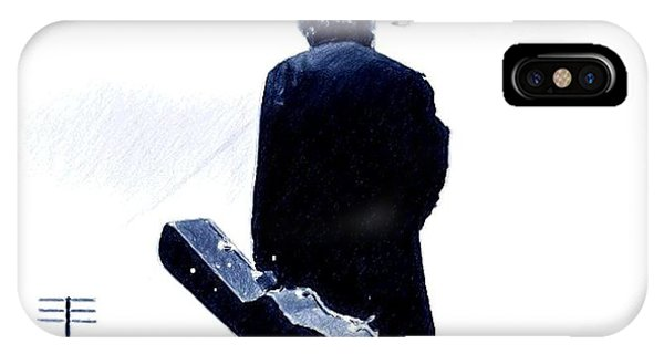Johnny Cash iPhone Case - I Walk The Line by Jerry Gose Jr