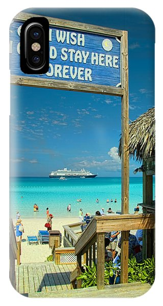 Bahamas iPhone Case - I Wish I Could Stay Here Forever by David Smith