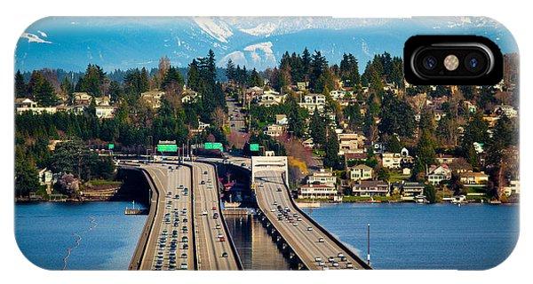 Downtown Seattle iPhone Case - I90 Bridge by Inge Johnsson
