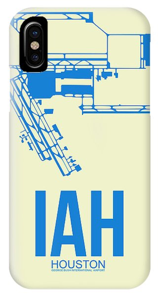 Jet iPhone Case - Iah Houston Airport Poster 3 by Naxart Studio