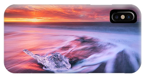 Flow iPhone Case - Ice And Fire II by Jingshu Zhu
