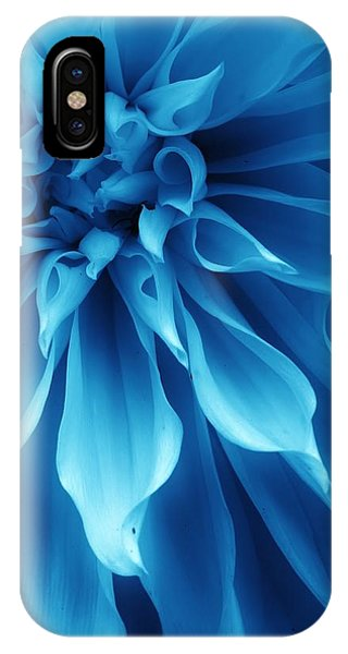 Ice Blue Dahlia IPhone Case