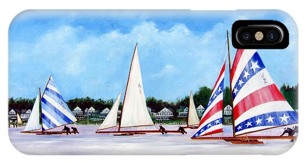 Winter Sails On The Navesink River Red Bank IPhone Case
