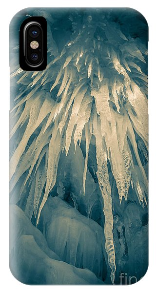Loon iPhone Case - Ice Cave by Edward Fielding