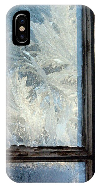 Frost Glass iPhone Case - Ice Crystals On Windowpanes by Panoramic Images