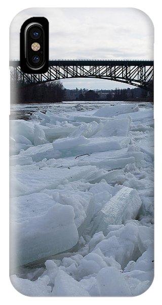 Ice Jam I-91 Bridge Brattleboro Vt IPhone Case