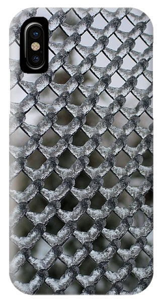 Ice On Chain Link Fence IPhone Case
