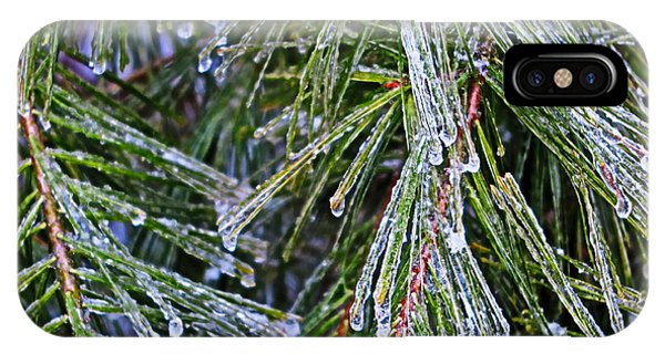 Ice On Pine Needles  IPhone Case