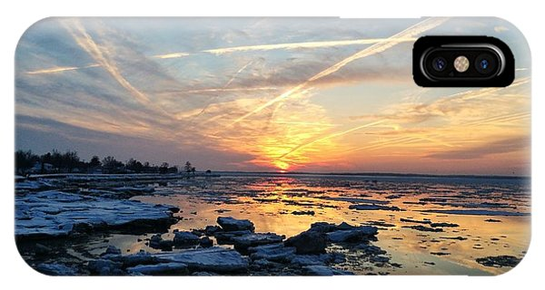 Ice On The Delaware River IPhone Case