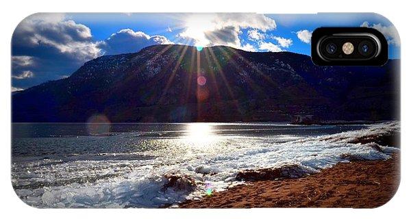 Ice Piles On Skaha Lake Penticton 02-19-2014 IPhone Case