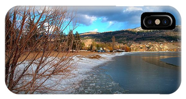 Ice Piles2 On Skaha Lake Penticton 02-19-2014 IPhone Case