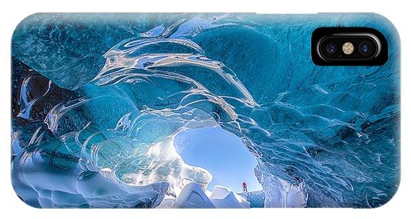 Ice iPhone Case - Ice Vortex by Michael Blanchette