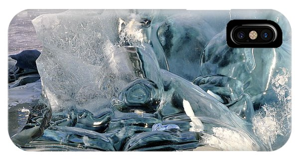 Iceberg Detail - Mendenhall Lake IPhone Case