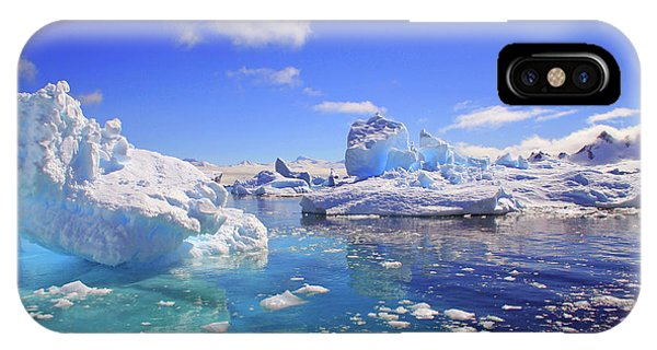 Cold Day iPhone Case - Icebergs And Ice Flows by Miva Stock