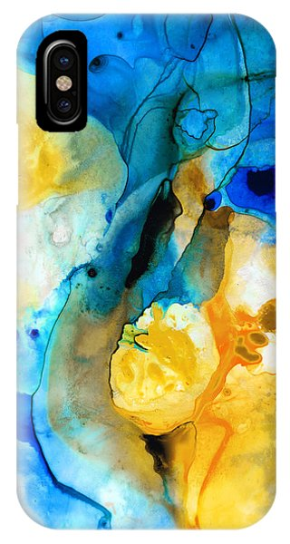Iced Lemon Drop - Abstract Art By Sharon Cummings IPhone Case