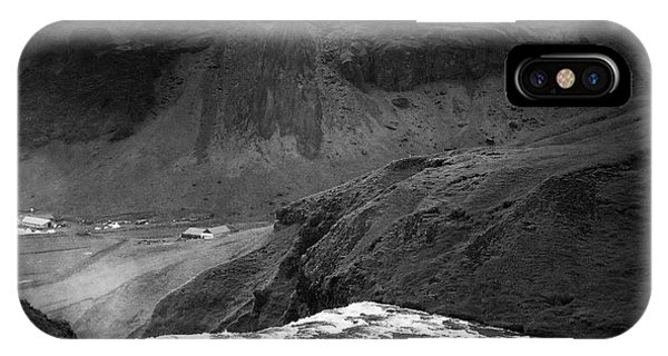 Landscapes iPhone Case - Iceland Black And White Square Format by Matthias Hauser