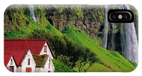 Iceland Farm Falls IPhone Case