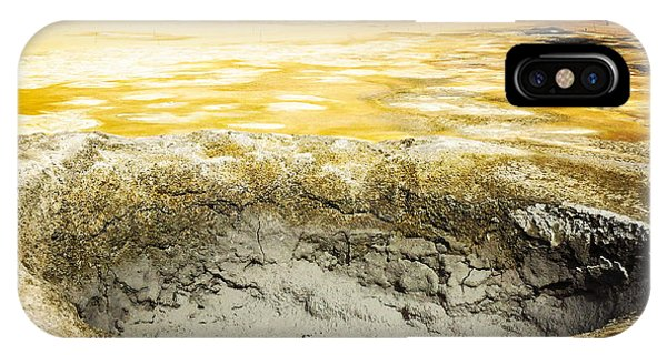 Orange iPhone Case - Iceland Geothermal Area Hverir Namaskard by Matthias Hauser