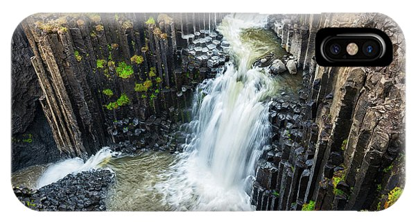 Basalt iPhone Case - Iceland, Litlanesfoss by Jaynes Gallery