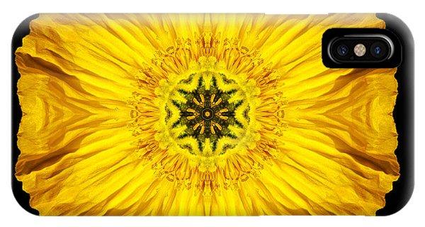 Iceland Poppy Flower Mandala IPhone Case
