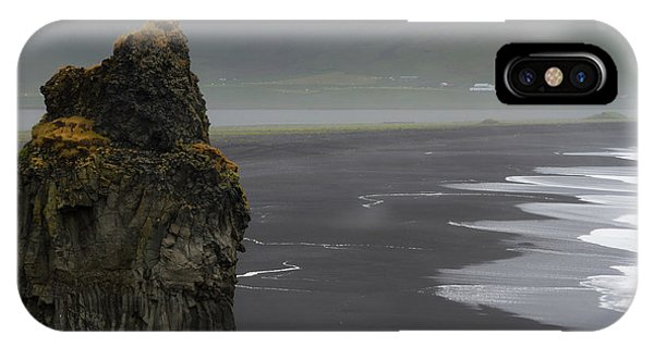 Basalt iPhone Case - Iceland, Vik Basalt Column Rises by Jaynes Gallery