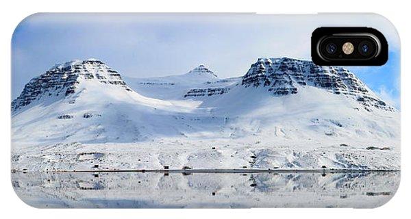 Icelandic Sunny Spring Day Panorama IPhone Case