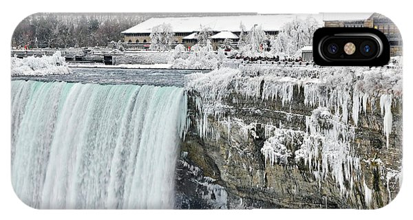 Icicles Over The Falls IPhone Case