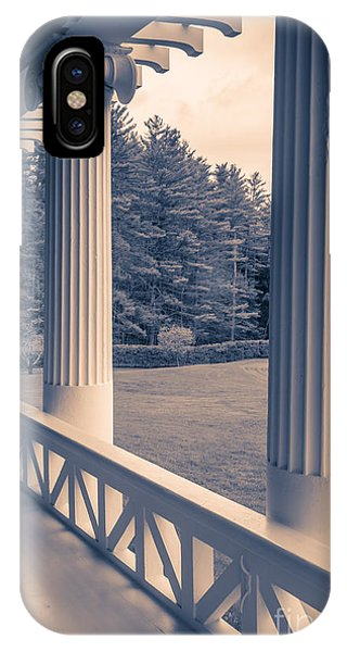 Porches iPhone Case - Iconic Columns On An Estate by Edward Fielding