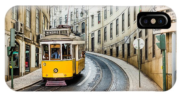 Travel iPhone Case - Iconic Lisbon Streetcar No. 28 IIi by Marco Oliveira
