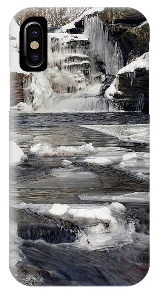 Icy Flow Below Murray Reynolds Waterfall IPhone Case