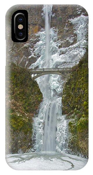 Icy Multnomah Falls 120713a IPhone Case