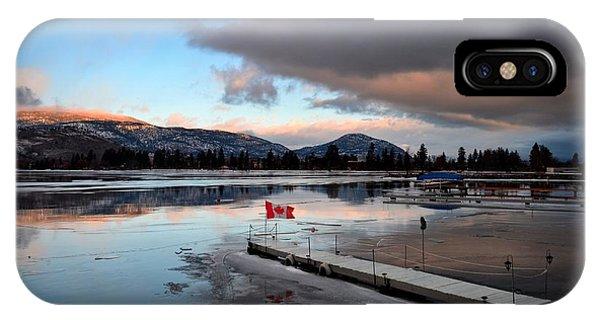 Icy Sunrise 001 IPhone Case