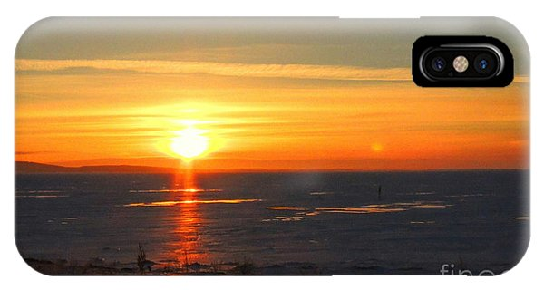 Icy Sunset IPhone Case