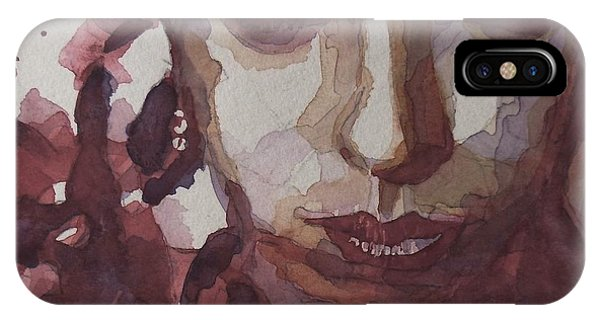 Blues Legends iPhone Case - I'd Be Smiling If I Wasn't So Desperate by Paul Lovering