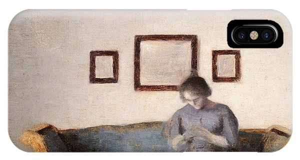 Ida Hammershoi Sitting On A Sofa IPhone Case