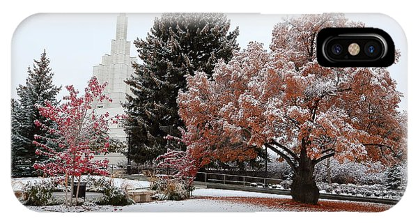 Idaho Falls Temple Winter IPhone Case