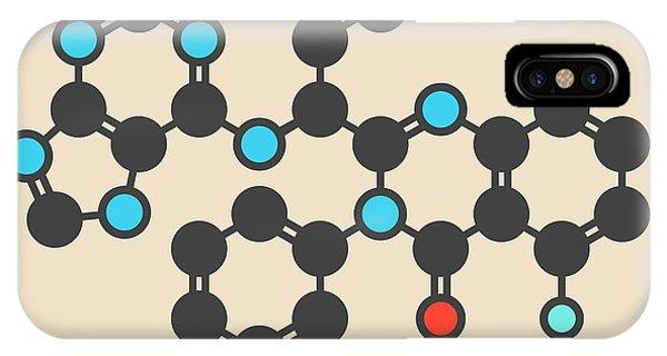 Chronic iPhone Case - Idelalisib Leukaemia Drug Molecule by Molekuul