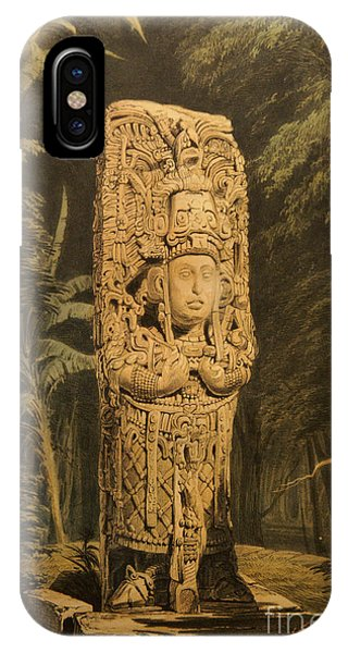 Idol At Copan By Frederick Catherwood IPhone Case