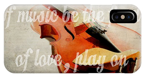 Valentines Day iPhone Case - If Music Be The Food Of Love Play On by Edward Fielding