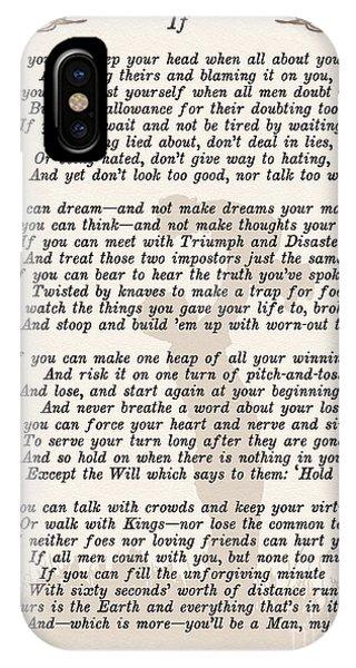 If Poem By Rudyard Kipling IPhone Case