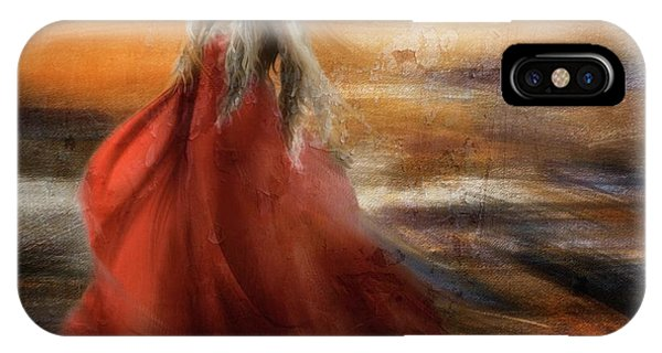 Red Hair iPhone X Case - If You Were The Sun, I Would Just Fade Into You... by Charlaine Gerber