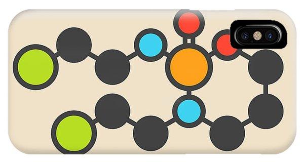 Mustard iPhone Case - Ifosfamide Cancer Drug Molecule by Molekuul