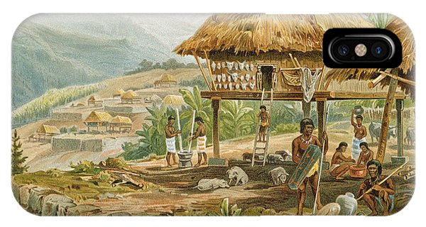 Indian Village iPhone Case - Igorrote Farm In Luzon, Philippines, From The History Of Mankind, Vol.1, By Prof. Friedrich Ratzel by Hans Meyer