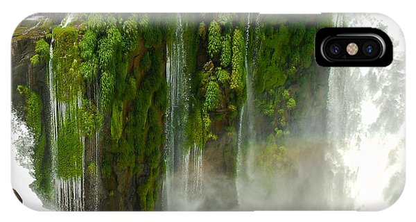 IPhone Case featuring the photograph Iguazu Falls By Mike-hope by Michael Hope