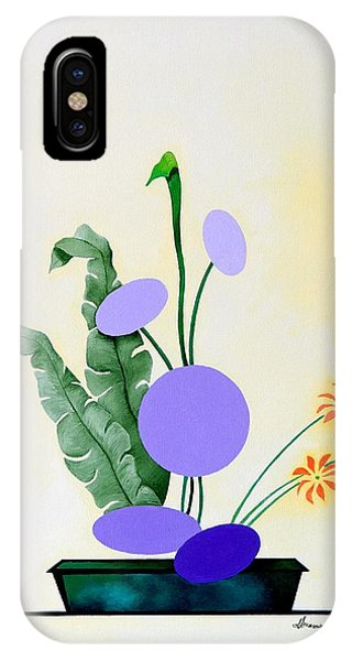 Ikebana #2 Green Pot IPhone Case