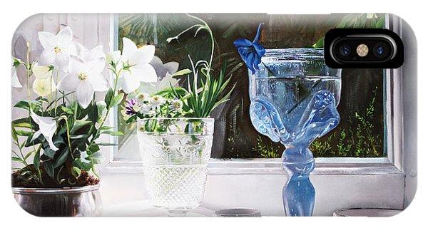 Glass iPhone Case - Il Calice Blu by Guido Borelli
