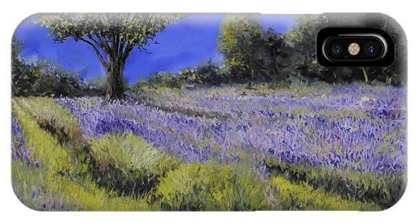 Lavender iPhone Case - Il Campo Di Lavanda by Guido Borelli