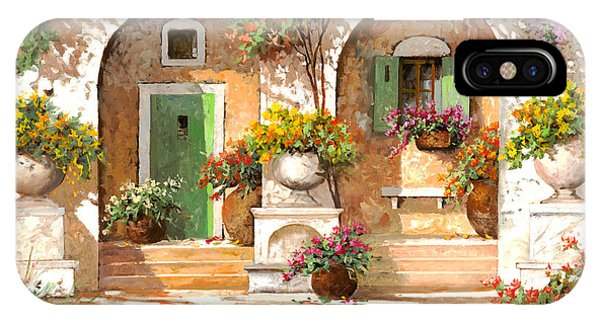 Arched iPhone Case - Il Cortile by Guido Borelli