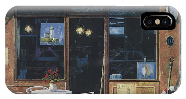 Cafe iPhone Case - Il Covo Della Costa by Guido Borelli