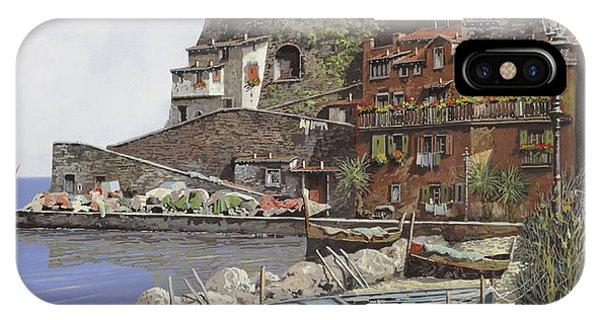 Coastal Landscape iPhone Case - il porto di Sorrento by Guido Borelli